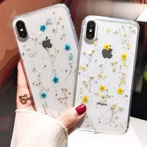 Iphone X/XS Real Dried Flowers Case